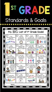 First Grade Targets and Awards – I Can Statements – Math and Studying Requirements