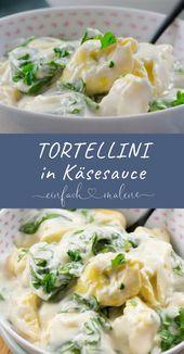 15 Minuten Spinat Tortellini in Käse Sauce. So lecker und so fix auf dem Teller…