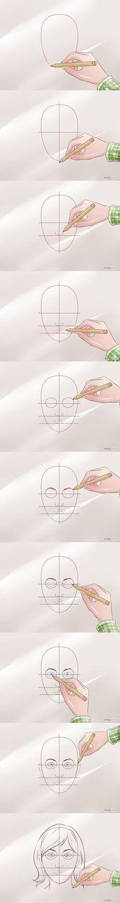 Kegel zeichnen ein perfektes Gesicht