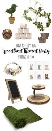 Woodland Theme Party Ideas – Baby Shower, Birthday Party, Rustic Wedding – Baby Shower