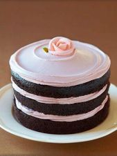 naked #cake made with double chocolate cake and raspberry buttercream. yum. – cake ideas