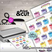 Checklist Stickers, Printable Planner Stickers, Kawaii Stickers, Rainbow Stickers, Clipboard Stickers, Planner Accessories