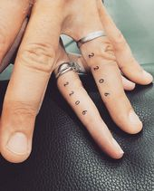 45 Meaningful Tiny Finger Tattoo Ideas Every Woman Eager To Paint! –  – Inked, ink., tattoo.