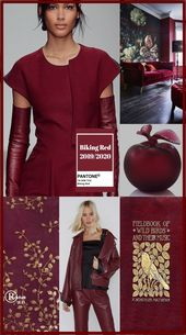 '' Biking Red '' Pantone - Autumn/ Winter 2019/ 2020 Color'' by Reyhan S.D. #fal...