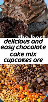 Köstliche und einfache Cupcakes aus Schokoladenkuchen sind so einfach zuzubereiten, aber der Geschmack ist alles andere als