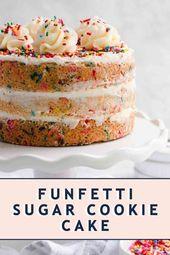 Sugar Cookie Funfetti Cake