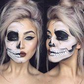23 Cooles Skelett-Makeup Ideen für Halloween