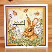 CS169D Stag & Hare A5 Briefmarkenset von Becki Mayes für Hobby Art Stamps. Th … – Stag & Hare
