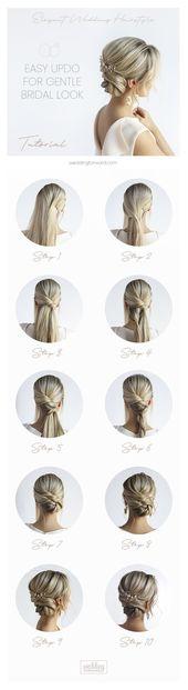 30 elegante Hochzeitsfrisuren für sanfte Bräute
