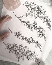 Armbänder / Armreifen mit reduzierten Werten erhältlich.  Tattoo Inspo #flowertattoos – flower tattoos