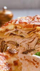 40 Clove Garlic Rooster Lasagna