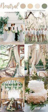 Frühling neutral grün Hochzeit Farbe Ideen #Hochzeiten #Hochzeitsfarben #Hochzeit