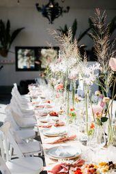 Bruiloft Inspiratie: Lauren en Leroy hadden een avondceremonie en heel veel bloemen!