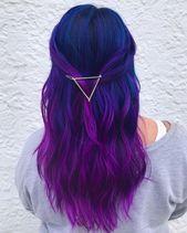35 Ideen für blaue und lila Haarfarben   – Hair Goals