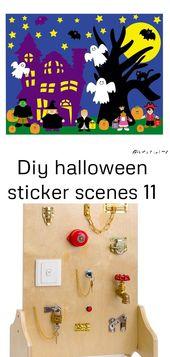 Diy Halloween Sticker Szenen 11
