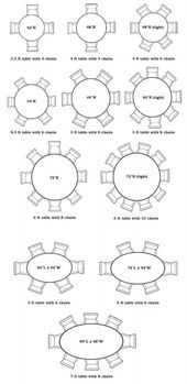 The 25 Best Round Table Sizes Ideas On Pinterest