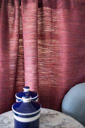 Magenta Raw Silk Curtains, Blackout Curtains, Boho Curtains, Curtain Panels, Window curtains, Purple Curtain, Door curtains Kitchen Curtains