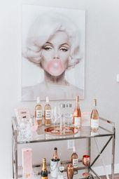 Chic Marilyn Monroe Inspired Bar Cart
