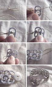 25 Genius Craft Concepts | Soda Pop Tab Bracelet  or i might possibly paint them and u…