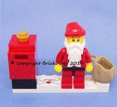 Lego® Brief an den Weihnachtsmann Klassischer Weihnachtsmann mit Sackbriefkasten Tischdekoration Ornament   – lego advent 2019