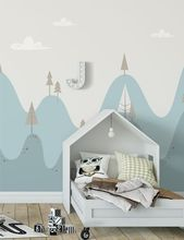 Lumpy Hills Dreamtime – Handmade Kindertapete / Wandbild