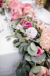 Rosa Pfingstrosen Hochzeit
