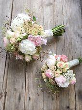 Brautstrauß Vintage, Pastell, romantisch   – Blumenstrauß hochzeit