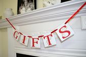 Gifts Banner, Gifts sign, Wedding Banner Photo Prop, Wedding sign, Wedding decoration - Graduation, Birthday Gifts Table sign