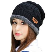 Muryobao Thick Warm Winter Beanie Hat Soft Stretch Slouchy Skully Knit Cap for Women – Red-b One Size – Products