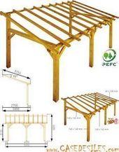 Structure de carport en bois 15mc Sherwood | casedesiles.com