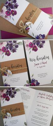 Hochzeitskarten Vintage Romantic Chic / Kreative handgefertigte Hochzeitskarten