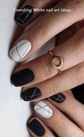 Über 30 einfache und trendige Ideen für das weiße Nageldesign #nails #acrylicnailstrends   – cute nails trends