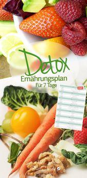 Detox Nutrition Plan – Entgiften Sie 7 Tage kostenlos im Zeitplan!   – #  Basische Ernährung