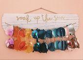 Schauen Sie sich diesen Sonnenbrillenhalter in meinem #etsy-Shop an: #walldecor #rustic #sung…