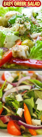 EASY GREEK SALAD GREAT SUMMER SALAD This Greek salad is a favorite of my fathers…
