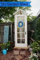 DIY Garden Shed from Upcycled Materials   – DIY  Projects