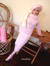 Modèle gratuit : une jupe longue pour poupée model de 40 cm – Tricot pour poupées Créations Soudane