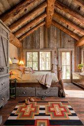 Tour a gorgeous rustic mountain cabin retreat in Big Sky