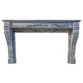 """French Marble Fireplace """"Restauration"""" Style, 19th…"""