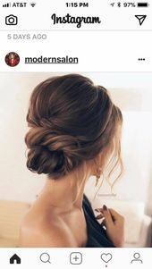 Wedding Guest Hair on #upstyle # Hairstyle # Bridesmaids # Bridesmaid #Lowbun …..