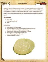 Glue Fossil – Printable 5th Grade Science Activity