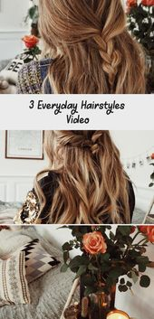 3 Everyday Hairstyles Video