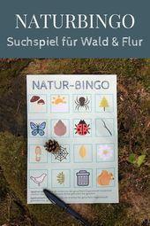 Mit Kindern die Natur entdecken: Naturbingo – ein Suchspiel für Wald und Flur