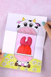 Surprise Big Mouth Cow Printable Craft for Kids