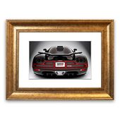 Framed Poster Koenigsegg Ccxr back East Urban Home size: 70 cm H x 9 …