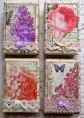 Seife verpackt – Vintage Blumen
