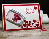 Eine Geburtstagskarte für einen sehr lieben Freund #artofcards #stampinup #heart …   – opeb when