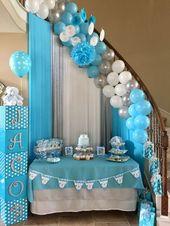 Treppe, die an #decoracionbabyshower verziert