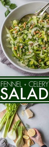 This Shaved Fennel and Celery Salad comes together quickly and has such a delici…