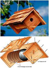 Wie baue ich ein Vogelhaus? 55 einfache DIY-Vogelhaus-Ideen